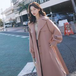 Hassel - Single-Breasted Midi Trench Coat