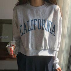 MERONGSHOP - 'CALIFORNIA' Cropped Sweatshirt