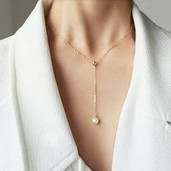 Scoria - Collar con perla de imitación colgante
