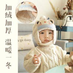 DOLLIY - Fleece-lined Animal Baby Trapper Hat DIY Kit