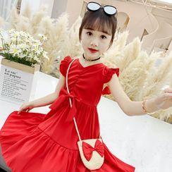 Qin Qin - 小童套装: 无袖A字连衣中裙 + 斜挎包