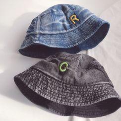 Skylit - 小童刺繡字母牛仔漁夫帽