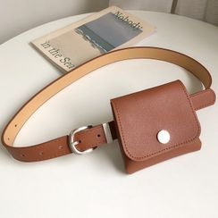 Charm n Style(チャームンスタイル) - Faux Leather Belt with Belt Bag