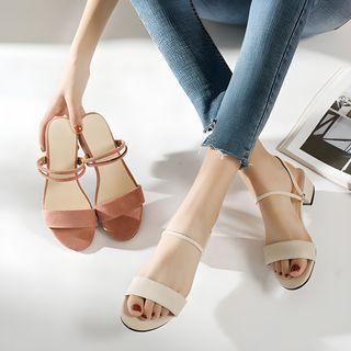 Terute - Block Heel Two-Way Sandals