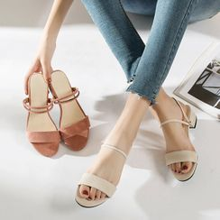 Terute(テルテ) - Block Heel Two-Way Sandals