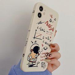 BlingStar - Astronaut Print Phone Case - iPhone 12 Pro Max / 12 Pro / 12 / 12 mini / 11 Pro Max / 11 Pro / 11 / SE / XS Max / XS / XR / X / SE 2 / 8 / 8 Plus / 7 / 7 Plus