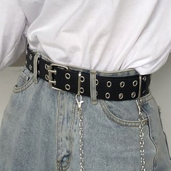 CIMAO - Faux Leather Chained Belt