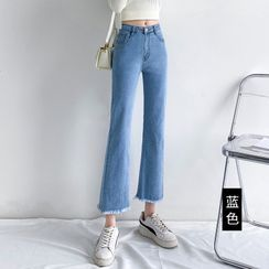 Denimot - Cropped Boot-Cut Jeans (Various Designs)