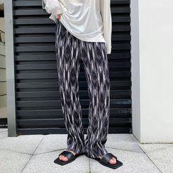 Citigleam - Printed Wide Leg Pants