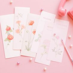 Sanzo - Set: Translucent Envelope + Floral Print Letter