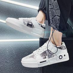 TATALON - Lettering Platform Lace Up Sneakers