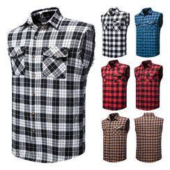 Sheck - 无袖格子衬衫
