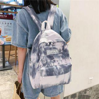 Crimson Tone - Printed Fabric Backpack