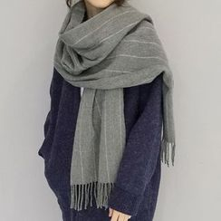 FROME - Pinstriped Fleece Scarf