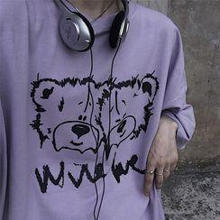 Giuliana - Elbow-Sleeve Graphic Print T-Shirt