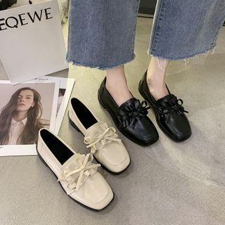 Novice(ノバイス) - Ruffle Trim Loafers
