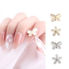 Monoe - Faux Crystal Butterfly / Flower Nail Art Decoration