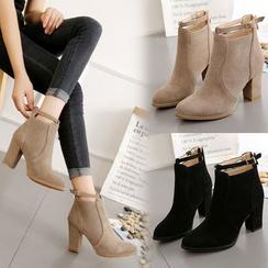 Weiya - Block Heel Ankle Boots