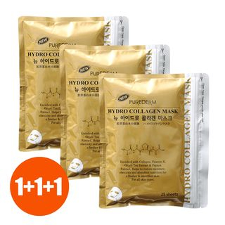 PUREDERM - New Hydro Collagen Mask Set 25pcs x 3packs