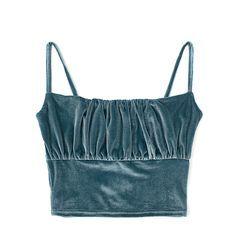 JIN STUDIOS - Velvet Cropped Camisole Top