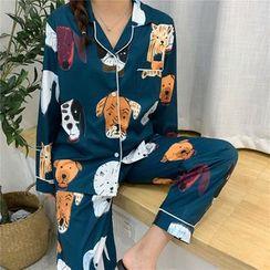 Tanee - Pajama Set: Printed Shirt + Pants