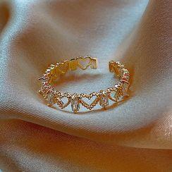 True Glam - Rhinestone Open Ring