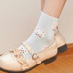 Sayaka - Rabbit Print Socks