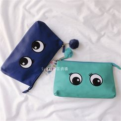 Cititian - Eye Embroidered Bobble Makeup Pouch