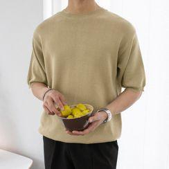 Seoul Homme(ソウルオム) - Crew-Neck Short-Sleeve Knit Top