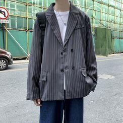 Cowpow - Striped Double Breasted Blazer