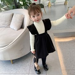 Ruban - Kids Sleeveless Plain Woolen Dress