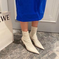 安若 - 尖头细高跟短靴