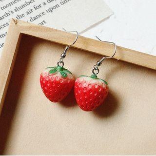 Admae - 草莓树脂耳坠