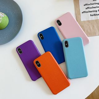 Wild Pony - Plain Faux Leather Phone Case - iPhone 6 / 6 Plus / 6s / 6s Plus / 7 / 7 Plus / 8 / 8 Plus / X / XS / XS Max / XR