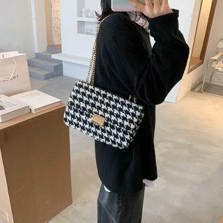 Miloes - Houndstooth Chain Strap Shoulder Bag