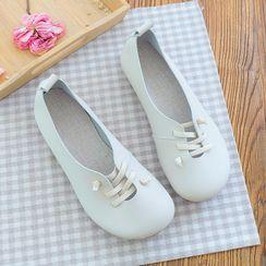 Daminsky - Shoelace Accent Slip On Flats