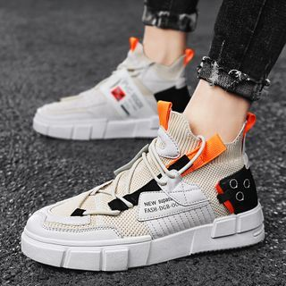 BELLOCK - Knit Panel Athletic Sneakers