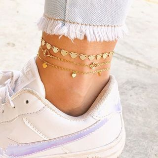 Terreau Kathy(テルーキャシー) - Heart Layered Anklet