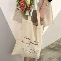 Spagitaur - Lettering Canvas Tote Bag