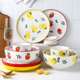 Heysoo - Lemon / Strawberry Print Saucer / Bowl / Plate