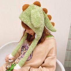 Yunikon - Chenille Dinosaur Beanie With Movable Ears