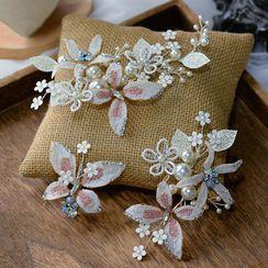 Ashmi(アシュミ) - Floral Hair Pin Set