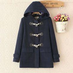 Mori Girls - Hooded Toggle Coat