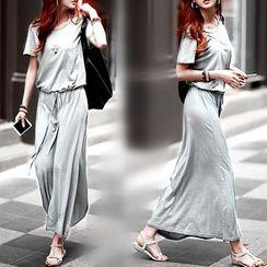 Oscuro - 短袖沙灘長裙