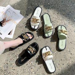 Vindler - Metal-Accent Slide Sandals