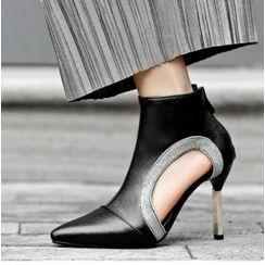 Freesia - 镂空高跟及踝靴