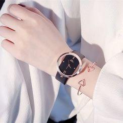 Tacka Watches - 套裝: 透明錶面帶式手錶 + 手鐲