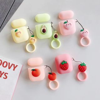 Vachie - Silicone Fruit Motif AirPods Case Cover