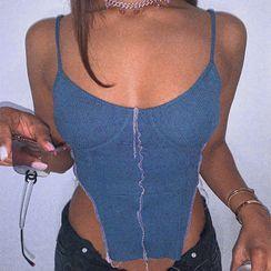 Hotarium - Knit Cropped Camisole Top