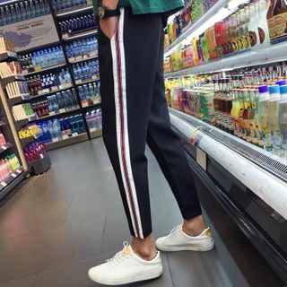 Wescosso - Cropped Striped Pants